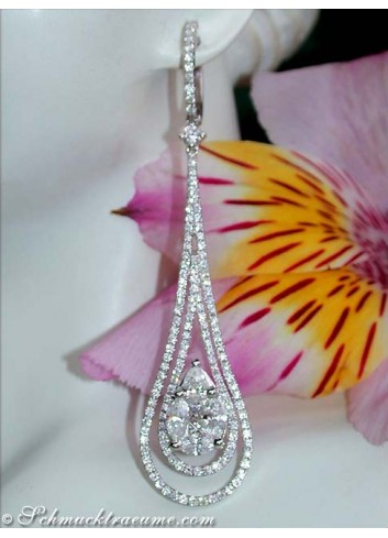 High-end Diamond Dangling Earrings (Illusion Design)