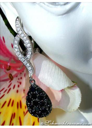 Stunning Black & White Diamond Earrings