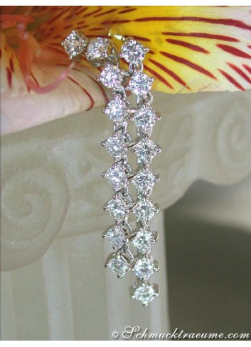 Long Diamond Earrings (Chain Design)