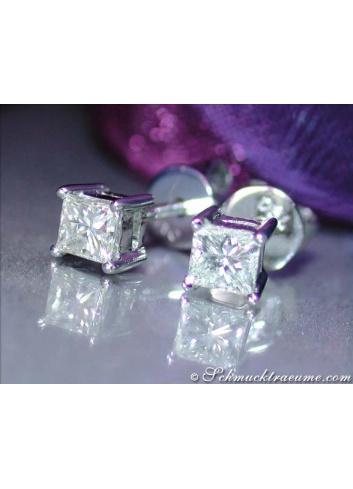 Precious Princess Diamond Solitaire Studs (0,40 ct.)