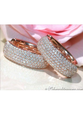 Huge Diamonds Pavé Hoop Earrings