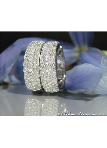 Opulent Diamond Pave Hoop Earrings