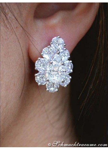Unique Diamond Stud Earrings
