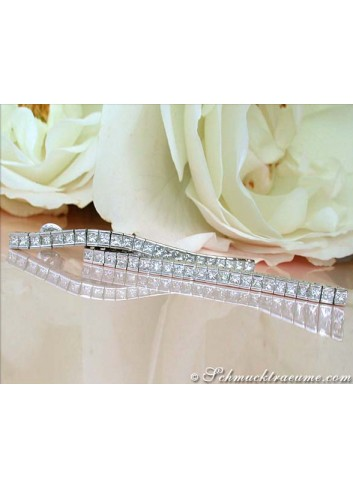 Extra long Princess Diamond Earrings