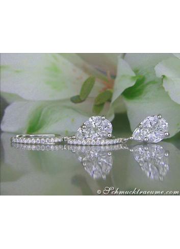 Noble Illusion Design Diamond Teardrop Earrings