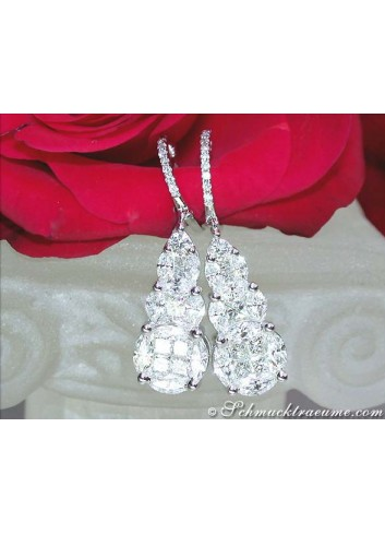 Masterfully Crafted Diamond Earrings (Illusion Design)
