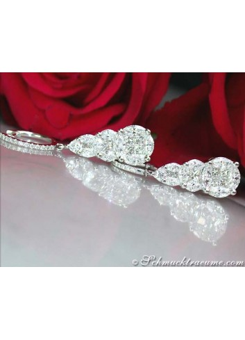Magnificent Illusion Design Diamond Earrings
