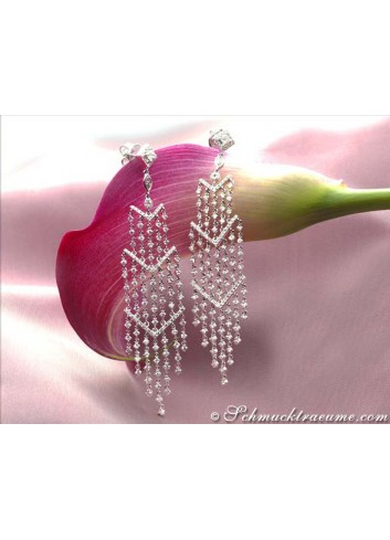 High-end Dangling Earrings with Diamonds (90 mm)
