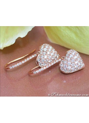 Delicate Diamond Heart Earrings