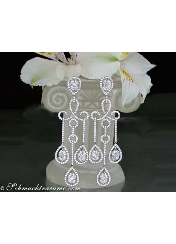 Glorious Diamond Dangling Earrings (Illusion Design)