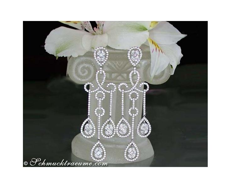 Brillanten / Diamanten Ohrringe in Weißgold 750