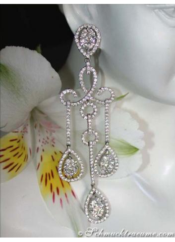 Glorious Diamond Dangling Earrings (Illusion Design)
