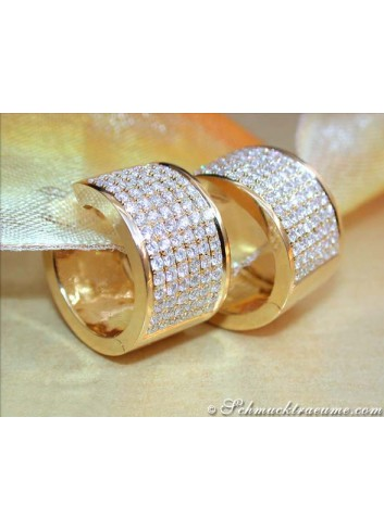 Magnificent Diamond Hoop Earrings