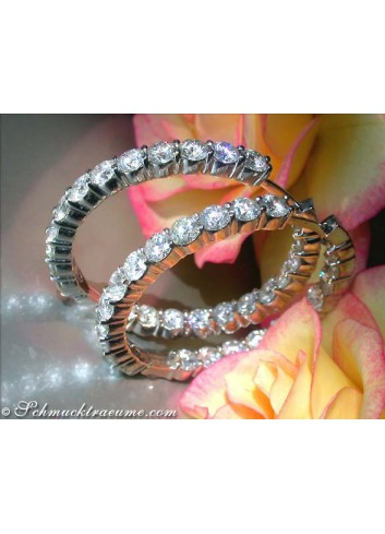 Impressive Diamond Hoop Earrings