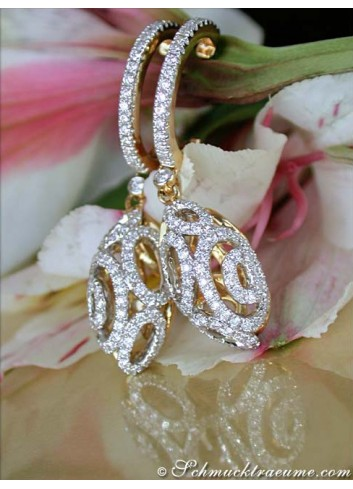 "Magnificent Diamond ""Egg"" Earrings"