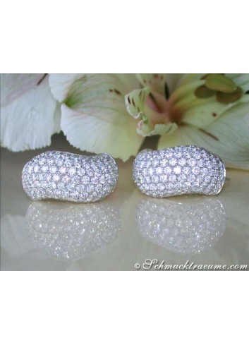 Wavy Diamond Earrings