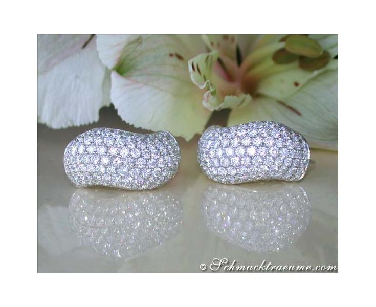 Wavy Diamond Earrings