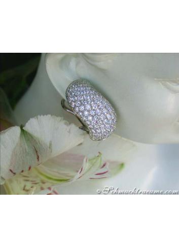 Geschwungene Diamanten Ohrstecker