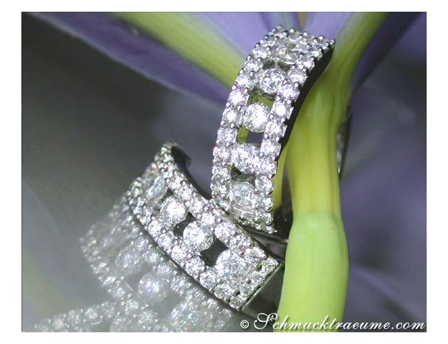 Elegant Diamond Hoop Earrings