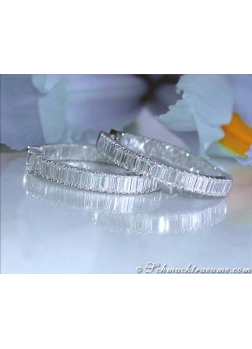High-end Baguette Diamond Hoop Earrings (6,03 ct.)