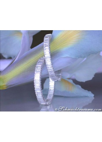 High-end Baguette Diamond Hoop Earrings (6,03 ct.)
