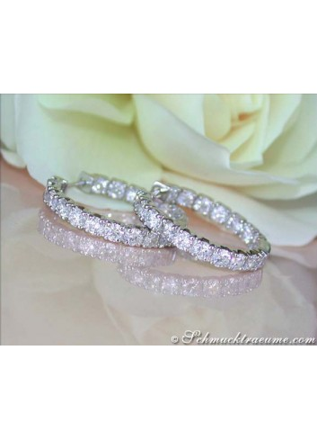 High-end Diamond Hoop Earrings