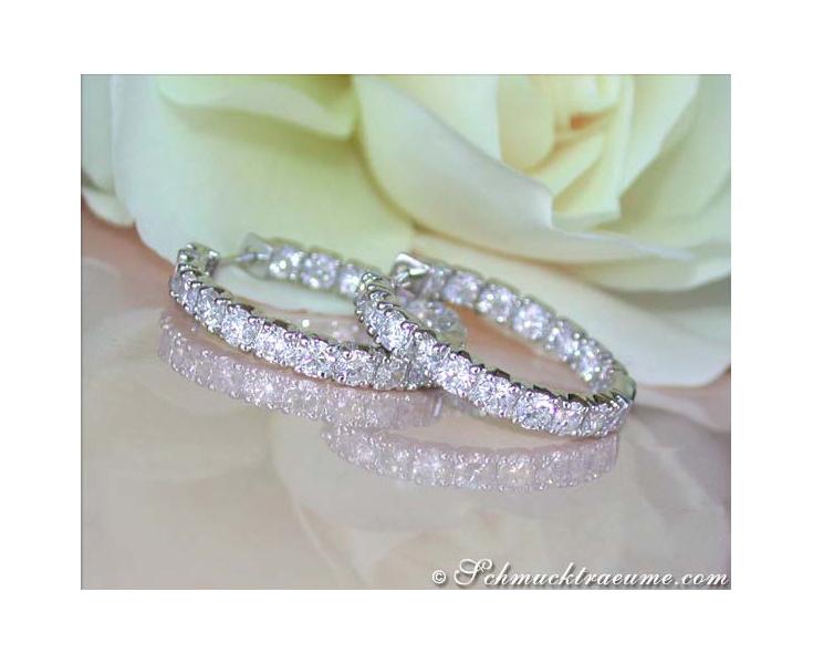 High-end Diamond Hoop Earrings (3,40 ct.)