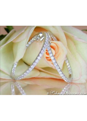 Amazing Diamond Hoop Earrings