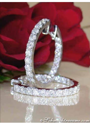 Precious Diamond Hoop Earrings (2,30 ct. - Ø 24 mm)