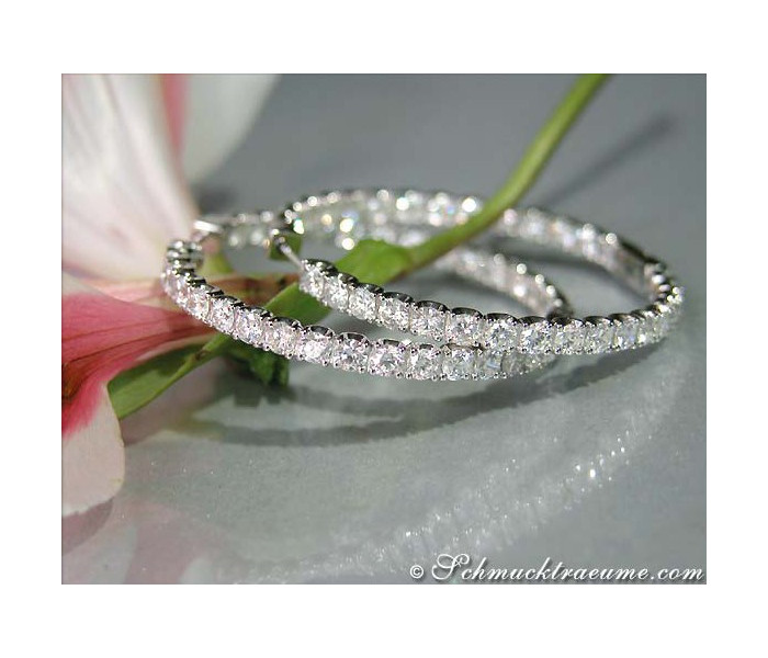 High-end Diamond Hoop Earrings (Ø 40 mm - 5,52 ct.)