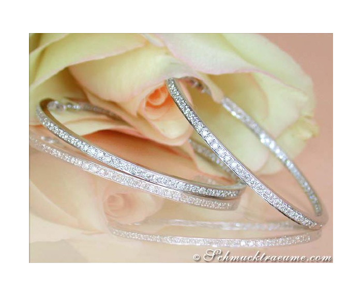 Diamanten Creolen in Weißgold 750