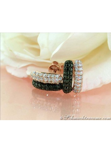 Delicate Black & White Diamond Earrings