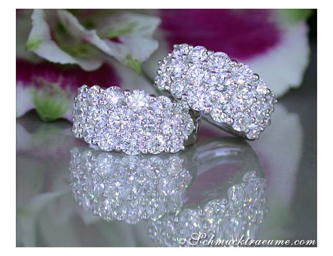 Terrific Diamond Huggie Earrings
