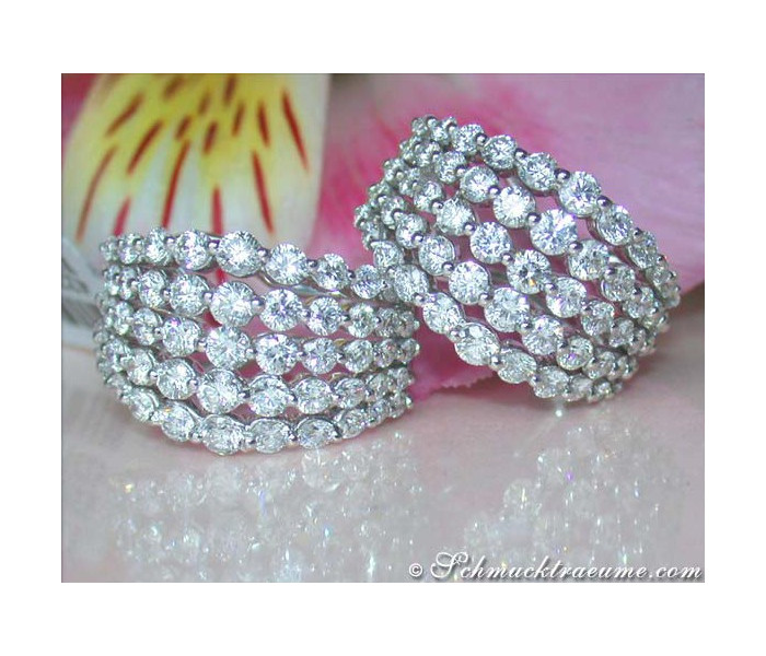 High-end Diamond Earrings (4,34 ct.)