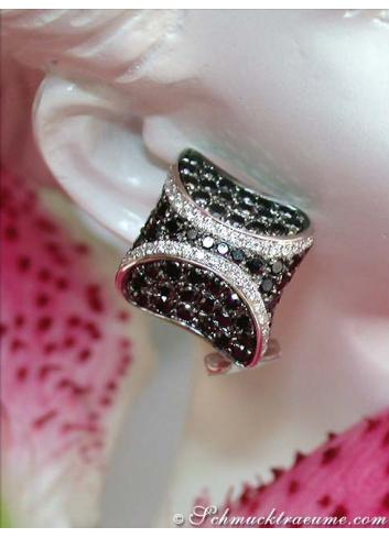 Interesting Black & White Diamond Studs