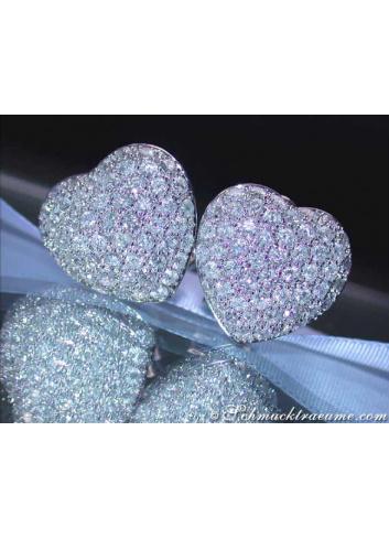 Timeless Diamond Heart Earrings