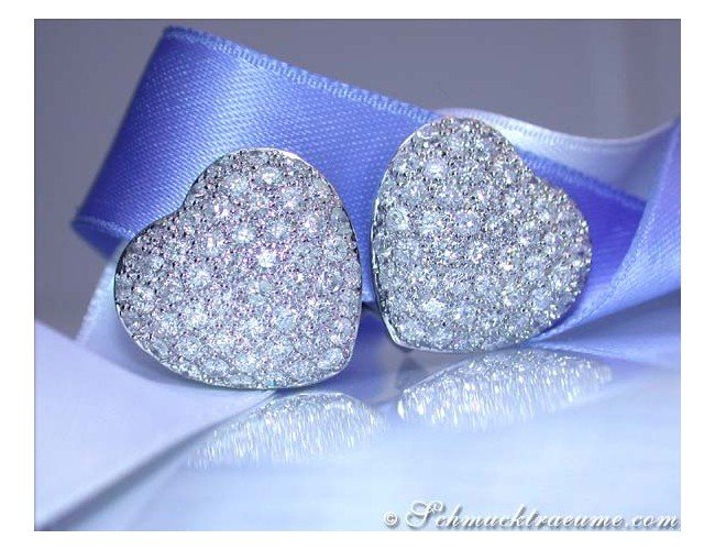 Timeless Diamond Heart Earrings