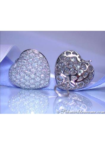 Diamant Herz Ohrstecker
