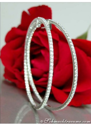 Tremendous Diamond Hoop Earrings (Ø 53 mm)