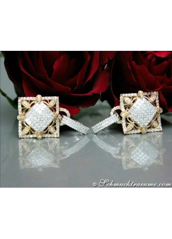 High-diamond Diamond Earrings in a Unique Design