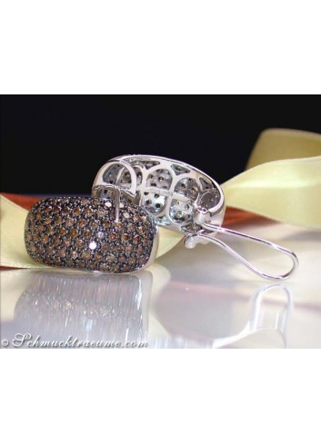 Massive Natural Brown Diamond Earrings