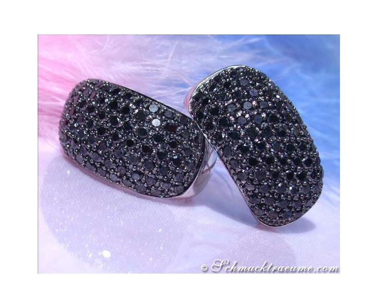 Schwarze Diamanten Ohrstecker