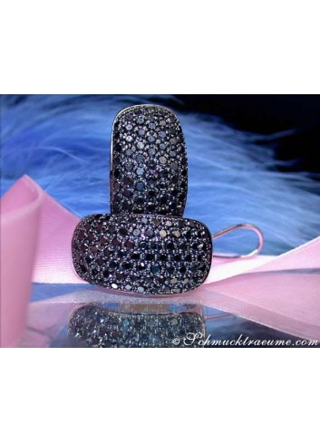 Massive Black Diamond Earrings