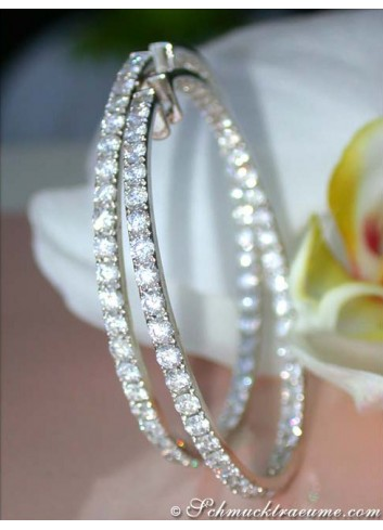 Huge Diamond Hoops (Ø 55 mm - 8,77 ct.)