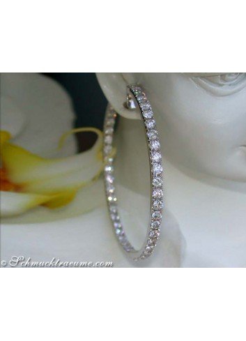 Huge Diamond Hoops (7,10 ct. - Ø 50 mm)
