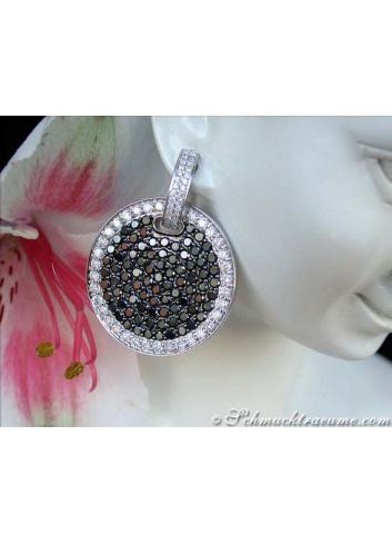 Schwarze Diamanten Ohrringe Weißgold 585