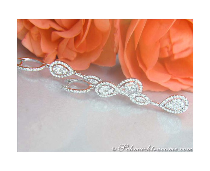 Lange Diamanten Ohrringe