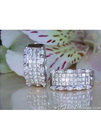 Diamant Ohrringe Marquise Schliff Princess Schliff