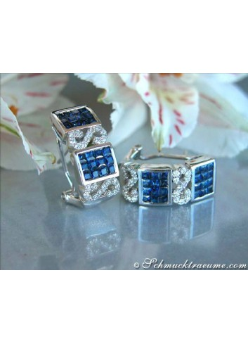 Enchanting Sapphire Ring with Diamonds