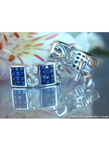 Enchanting Sapphire Earrings with Diamonds